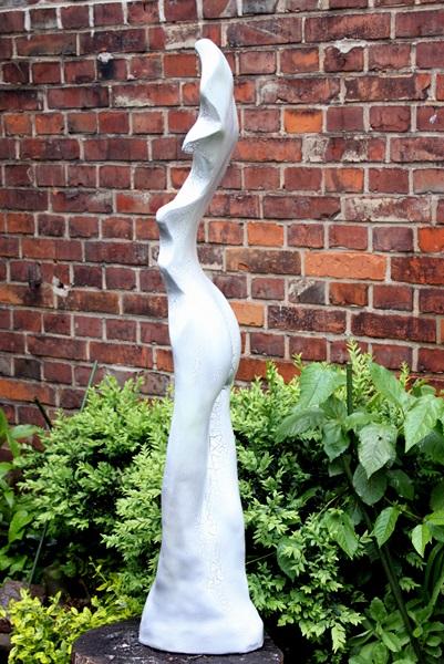 Skulptur Reisslack weiss 2